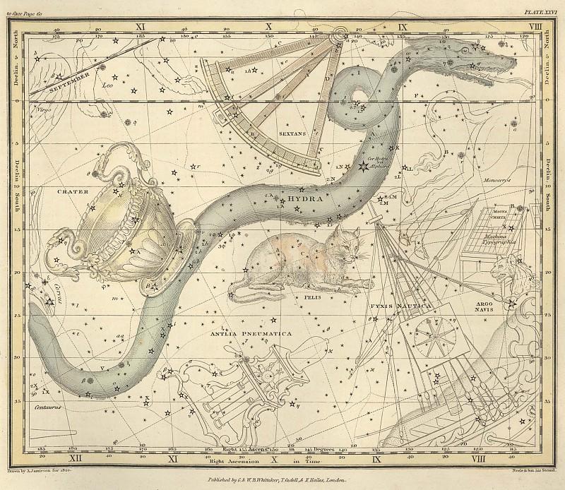 Гидра, Секстант, Чаша. Древние карты мира в высоком разрешении - Старинные карты