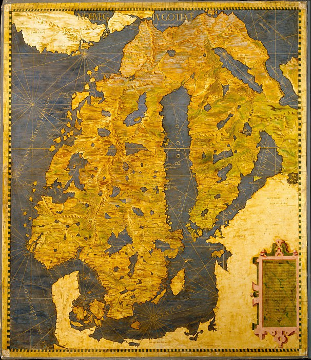 Map of Scandinavia. Antique world maps HQ