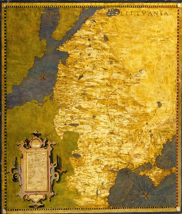 Livonia and Lithuanis. Antique world maps HQ