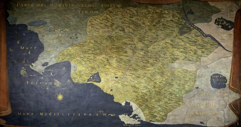 Карта Сиены и окрестностей. Древние карты мира в высоком разрешении - Старинные карты