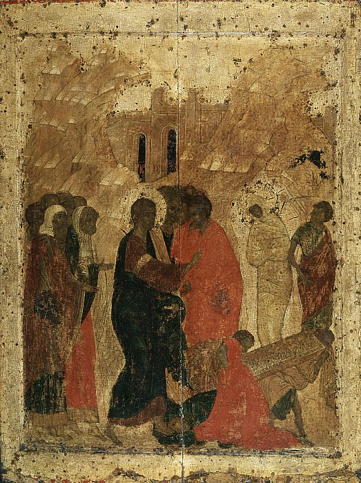 Andrei Rublev (1360-е - 1430) -- Праздничный чин. Orthodox Icons