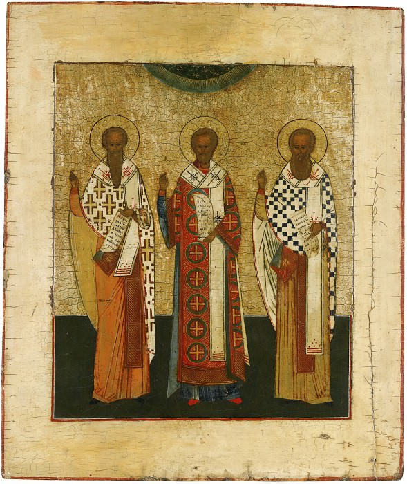 Святые Василий Великий, Иоанн Златоуст и Григорий Богослов. Orthodox Icons