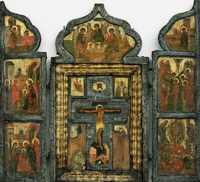 Триптих Распятие. Orthodox Icons