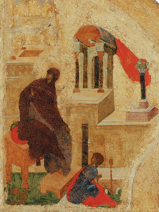 Andrei Rublev (1360-е - 1430) -- Царские врата иконостаса. Orthodox Icons
