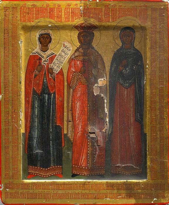 Святые Параскева, Екатерина и Анастасия. Orthodox Icons