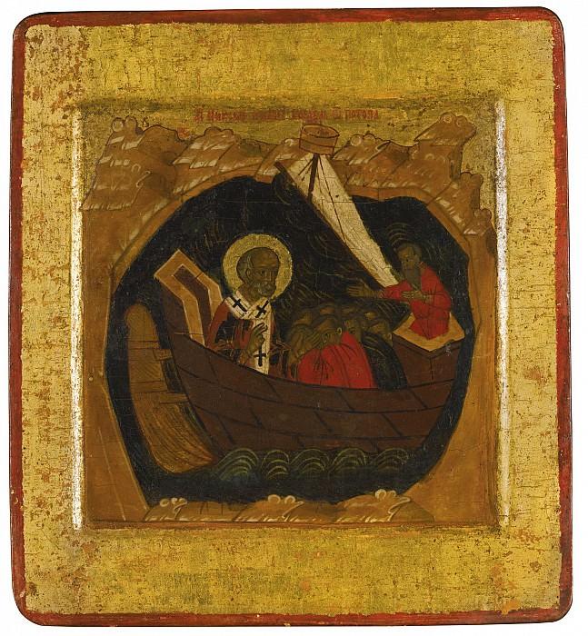 Святой Николай Чудотворец спасает корабль в шторм. Orthodox Icons