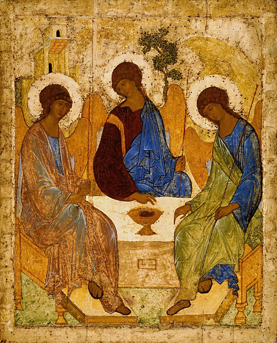 Andrei Rublev (1360's - 1430) -- Trinity. Orthodox Icons