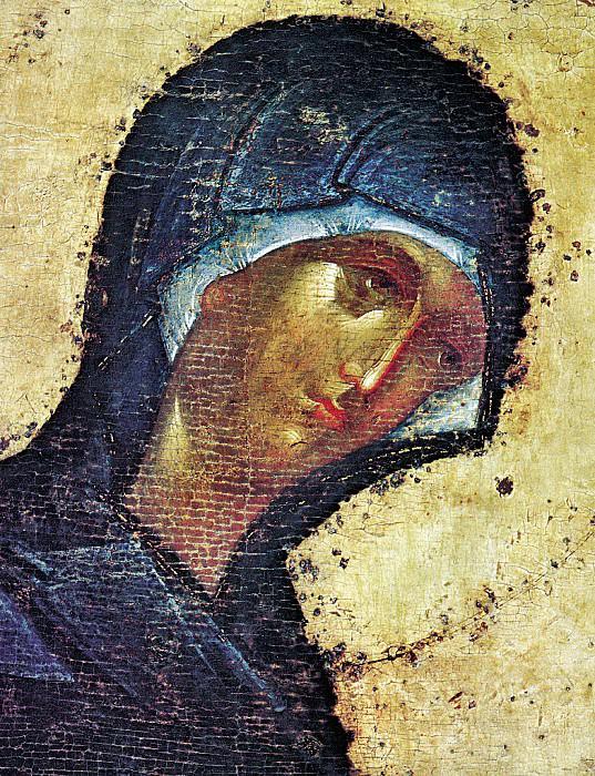 Feofan Grek (ок.1340 - ок.1410) -- Деисусный чин Благовещенского собора Московского кремля. Богоматерь. Orthodox Icons