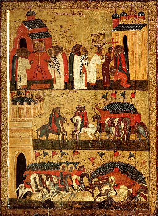 Чудо от иконы Божией Матери - Знамение в битве между новгородцами и суздальцами. Orthodox Icons