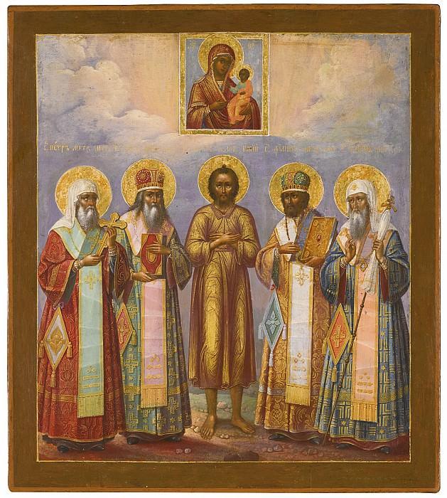 Икона Божией Матери Смоленская и пять святых. Orthodox Icons