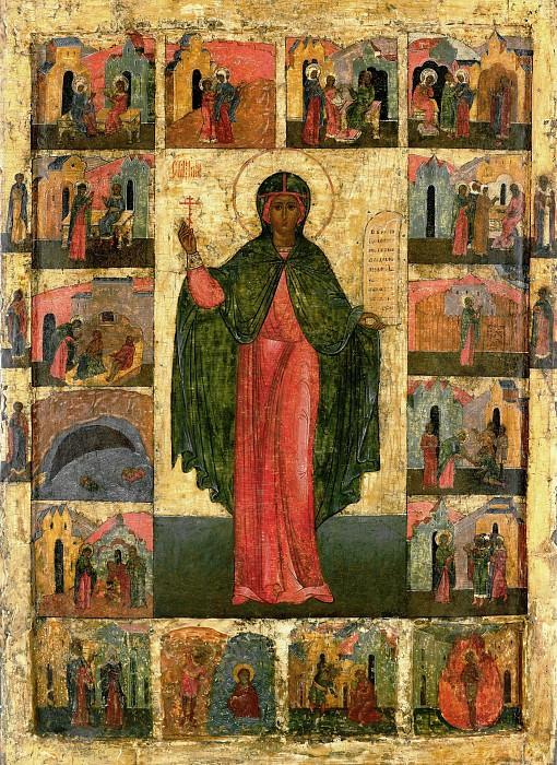 Святая Анастасия Узорешительница с житием. Orthodox Icons