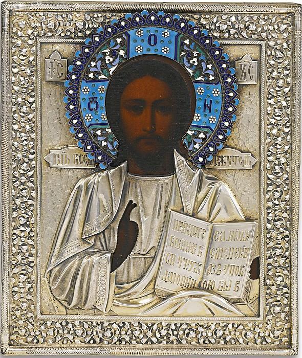 Христос Вседержитель в серебряном окладе. Orthodox Icons