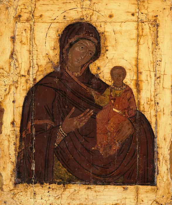 Икона Божией Матери Смоленская. С обратной стороны Святой Николай Чудотворец. Иконы
