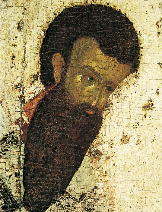 Feofan Grek (ок.1340 - ок.1410) -- Деисусный чин Благовещенского собора Московского кремля. Святой Василий Великий. Orthodox Icons