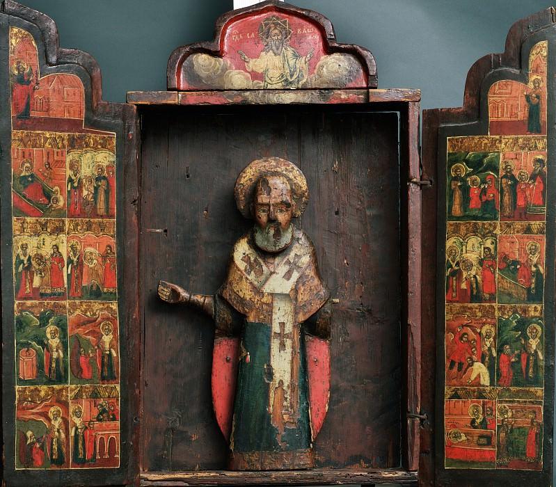 Святой Николай Можайский с житием. Orthodox Icons