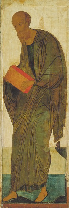 Andrei Rublev (1360-е - 1430) -- Деисусный чин 2. Апостол Павел. Orthodox Icons