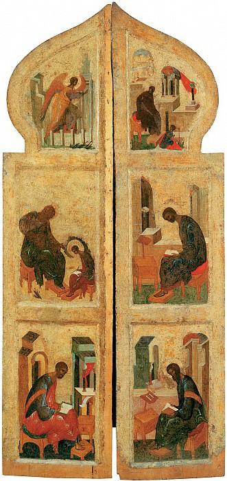 Андрей Рублёв (1360-е - 1430) -- Царские врата иконостаса. Иконы