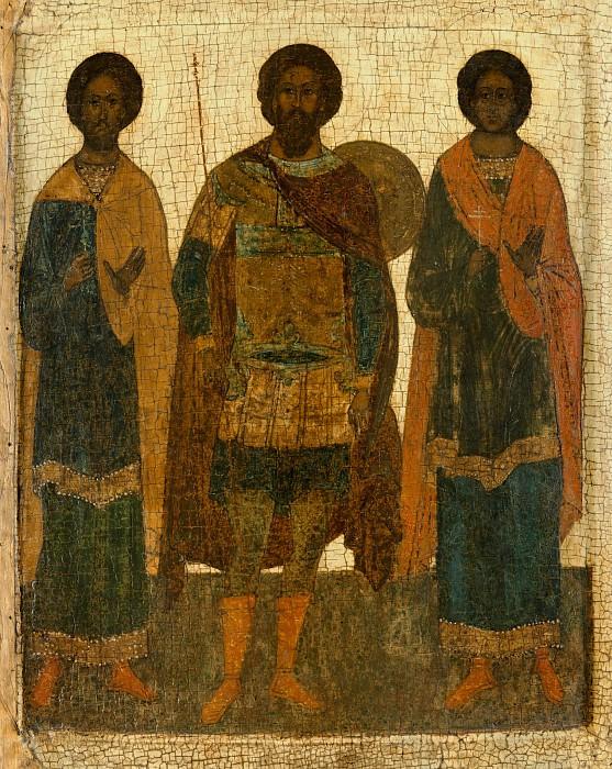 Святые Федор Стратилат, Флор и Лавр. Orthodox Icons