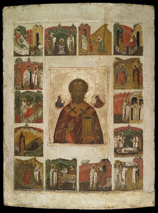 Святой Николай Чудотворец с житием. Orthodox Icons