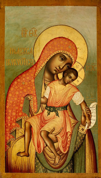 Симон Ушаков. Божией Матери Елеуса Киккская. Orthodox Icons