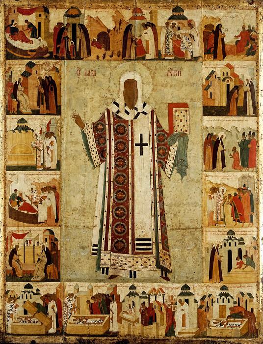Дионисий (ок.1440-1502) -- Святой митрополит Алексий с житием. Иконы