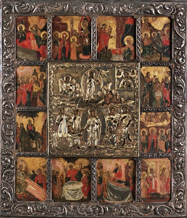 Воскресение Христово с Двунадесятыми праздниками. Orthodox Icons