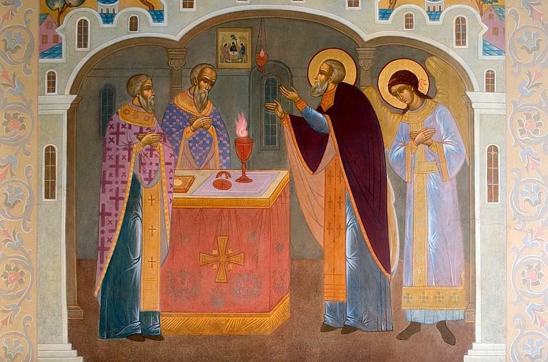 Фреска Троице-Сергиевой лавры. Иконы