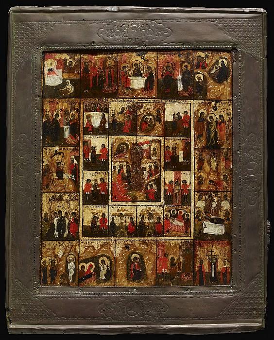 16 сцен из жития Христа и Богоматери и 12 сцен. Orthodox Icons