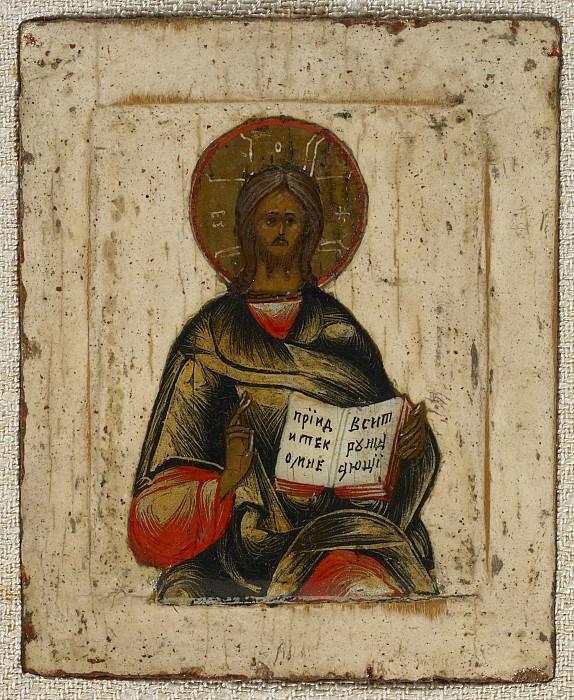 Триптих Господь Вседержитель с неизвестными святыми. Иконы