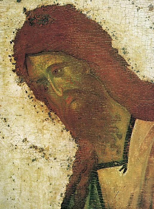 Feofan Grek (ок.1340 - ок.1410) -- Деисусный чин Благовещенского собора Московского кремля. Святой Иоанн Предтеча. Orthodox Icons