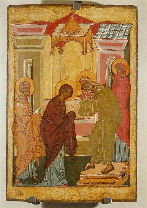 Новгородская школа. Сретение Принесение во храм. Orthodox Icons