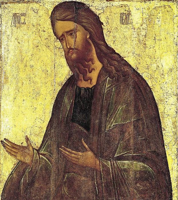 Andrei Rublev (1360-е - 1430) -- Святой Иоанн Креститель. Orthodox Icons