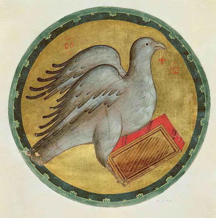 Andrei Rublev (1360-е - 1430) -- Символ евангелиста Иоанна - Орёл. Orthodox Icons
