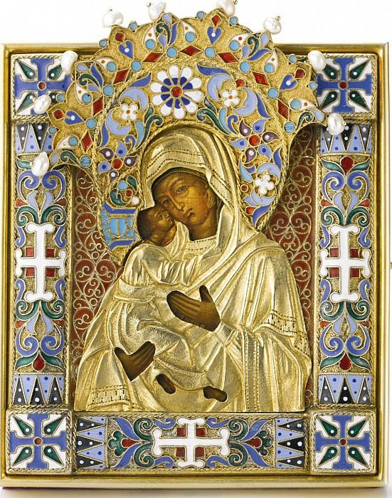 Икона Божией Матери Владимирская в серебряном окладе. Orthodox Icons