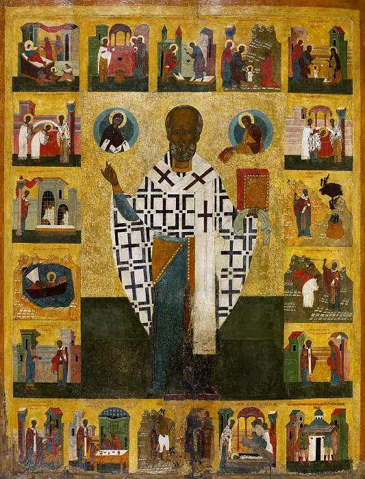 Святой Николай Зарайский с житием. Иконы