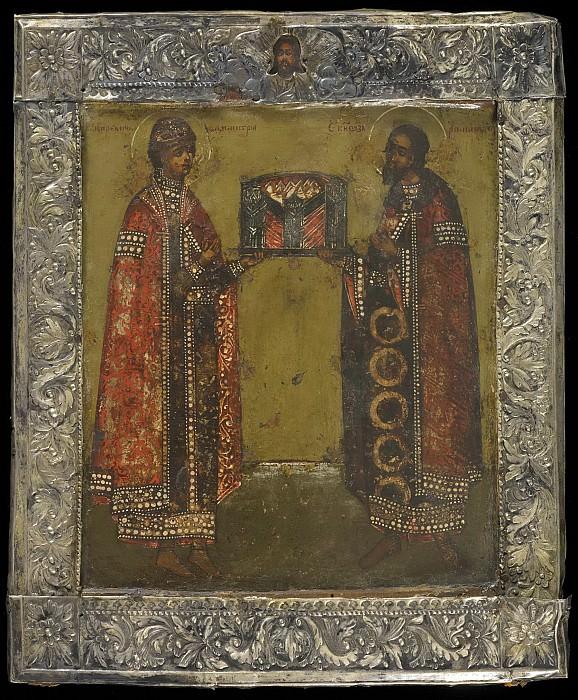 Святые Царевич Дмитрий и благоверный князь Роман Угличский. Orthodox Icons