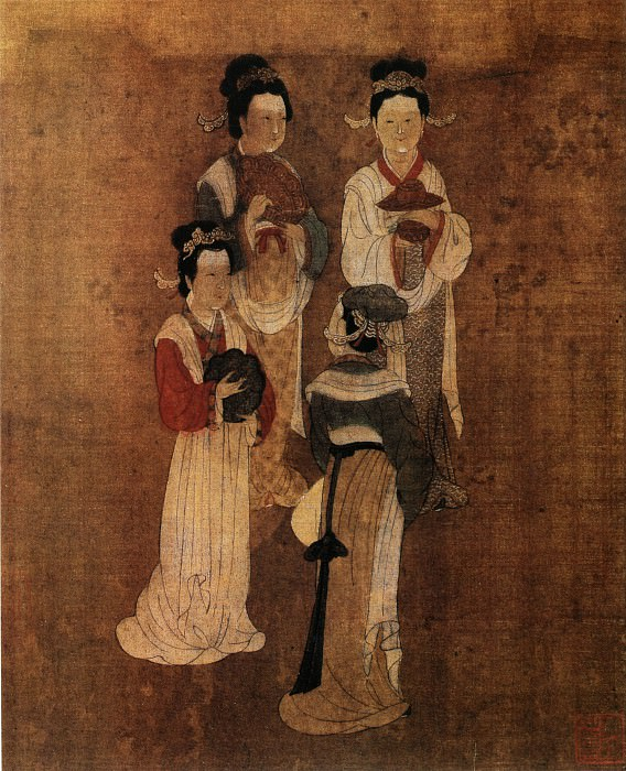 Unknown. Chinese artists of the Middle Ages (佚名 - 四美图)