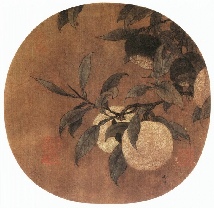 Ma Lin. Chinese artists of the Middle Ages (马麟 - 橘绿图)