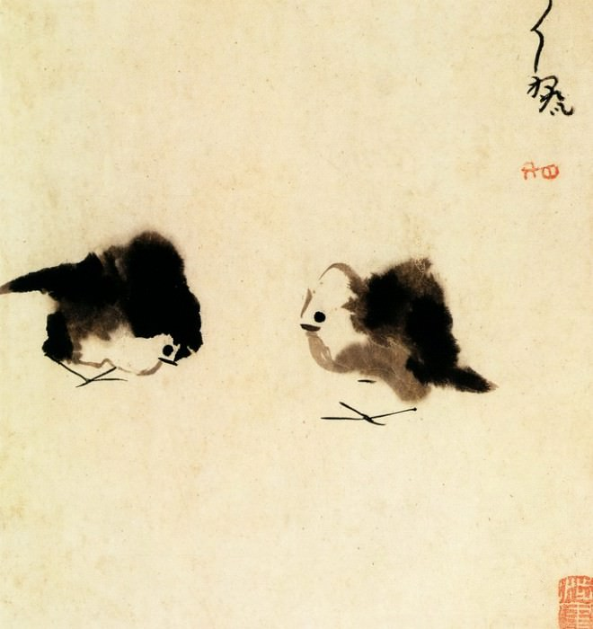 To Da. Chinese artists of the Middle Ages (来耷 - 杂画图(之一、二))