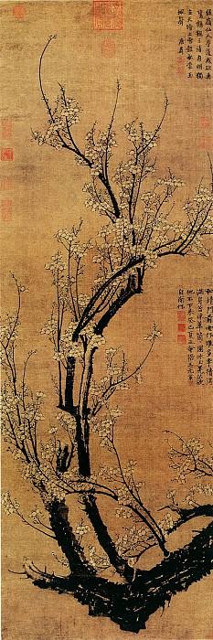 Wang Mian. Китайские художники средних веков (王冕 - 南枝春早图)