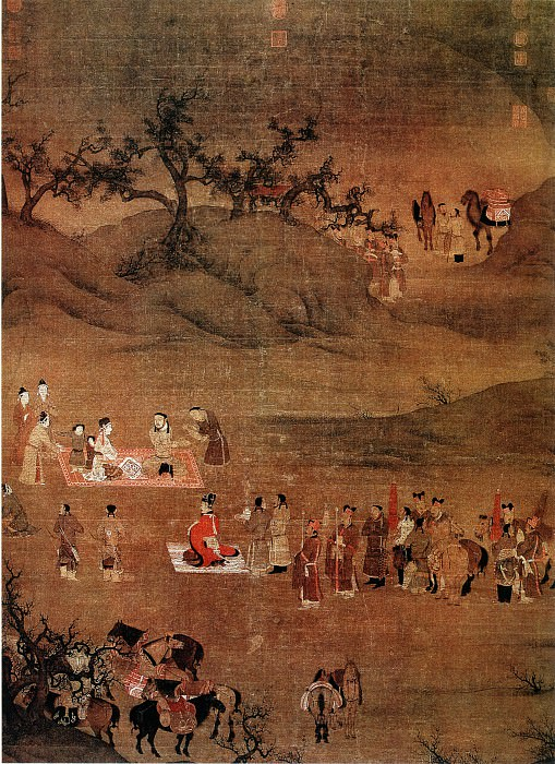 Chen Juzhong. Chinese artists of the Middle Ages (陈居中 - 文姬归汉图)