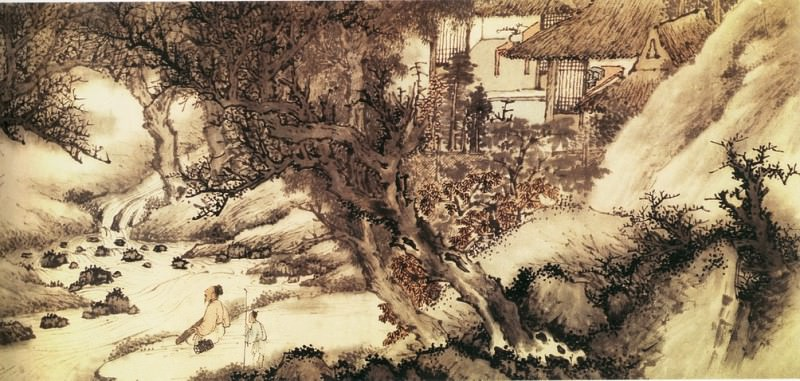 Wu Hong. Chinese artists of the Middle Ages (吴宏 - 小山远歌图(之一))