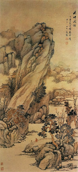 Li Jan. Chinese artists of the Middle Ages (黎简 - 江濑山光图)