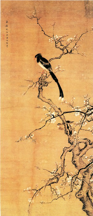 Shen Quan. Chinese artists of the Middle Ages (沈铨 - 梅花绶带图)