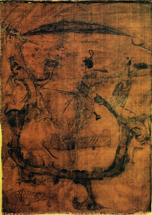 Unknown. Chinese artists of the Middle Ages (佚名 - 人物御龙图)