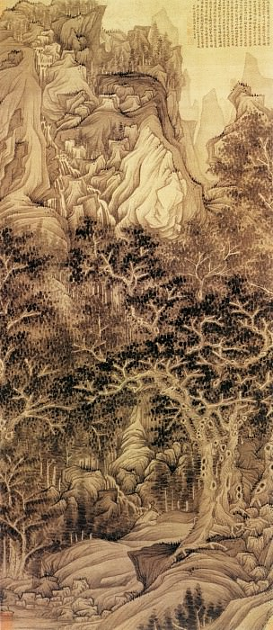 Chen Hong Shou. Chinese artists of the Middle Ages (陈洪绶 - 五浊山图)