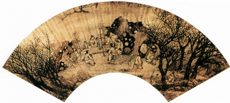 Sheng Maoye. Chinese artists of the Middle Ages (盛茂烨 - 春夜宴桃李园图(之二))