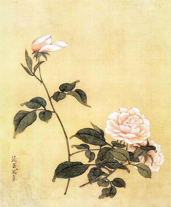 Yan Yue. Chinese artists of the Middle Ages (颜岳 - 花鸟图)