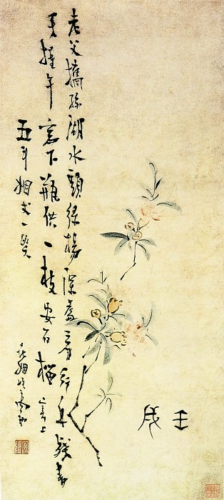 Gao Xiang. Chinese artists of the Middle Ages (高翔 - 折枝榴花图)