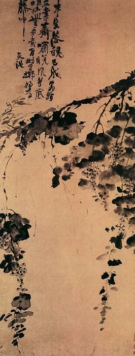 Xu Wei. Китайские художники средних веков (徐渭 - 墨葡萄图)